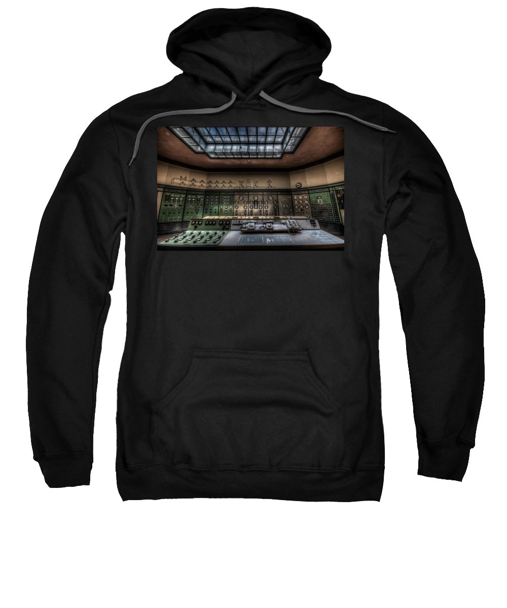 German Sweatshirt featuring the photograph Central Control by Nathan Wright