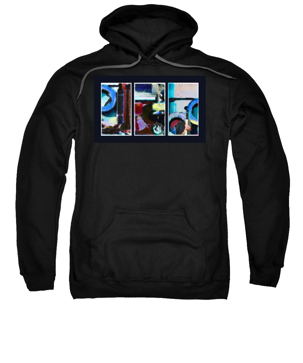 Abstract Sweatshirt featuring the digital art Centrifuge by Steve Karol
