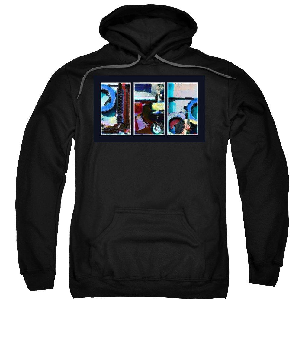 Abstract Sweatshirt featuring the digital art Centrifuge by Steve Karol