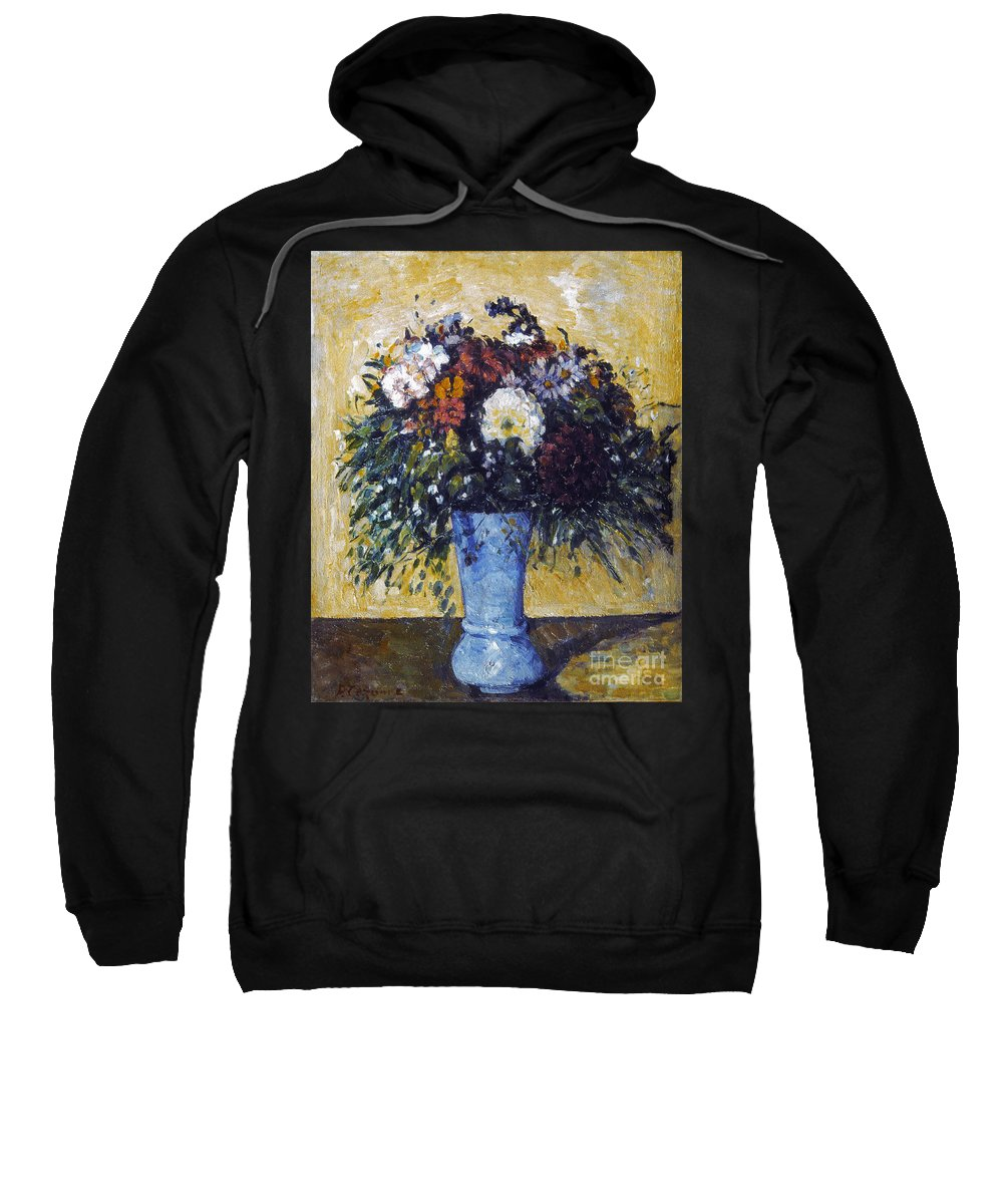 1875 Sweatshirt featuring the photograph Cezanne: Flowers, 1873-75 by Granger