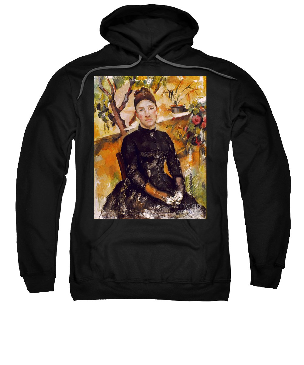 1890 Sweatshirt featuring the photograph Cezanne: Mme Cezanne, 1890 by Granger