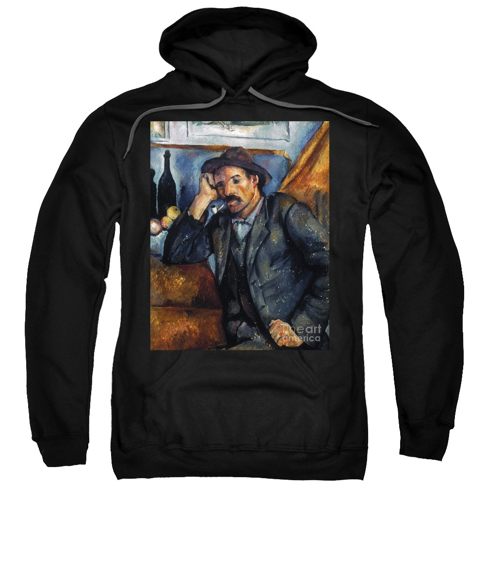 1900 Sweatshirt featuring the photograph Cezanne: Pipe Smoker, 1900 by Granger
