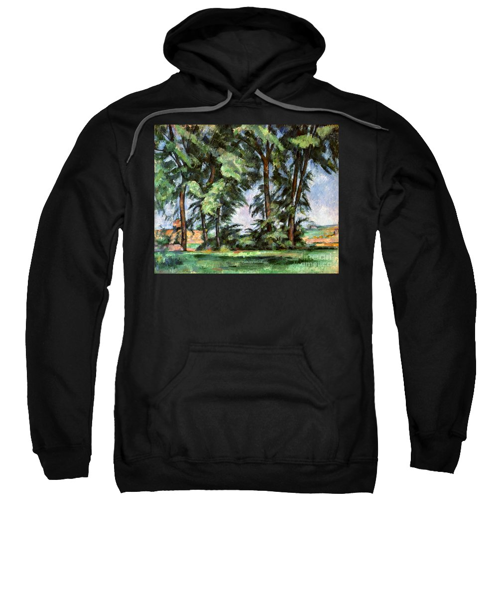 1887 Sweatshirt featuring the photograph Cezanne: Trees, C1885-87 by Granger