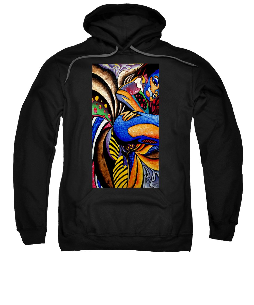 Abstract Sweatshirt featuring the painting Ch001 by Che Hondo