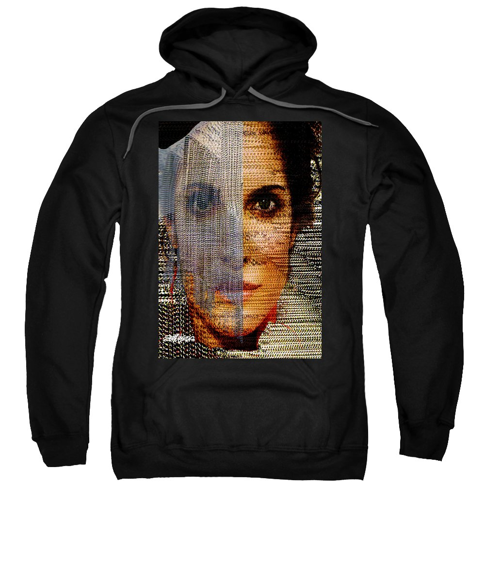 Mysterious Sweatshirt featuring the digital art Chained Vixen by Seth Weaver