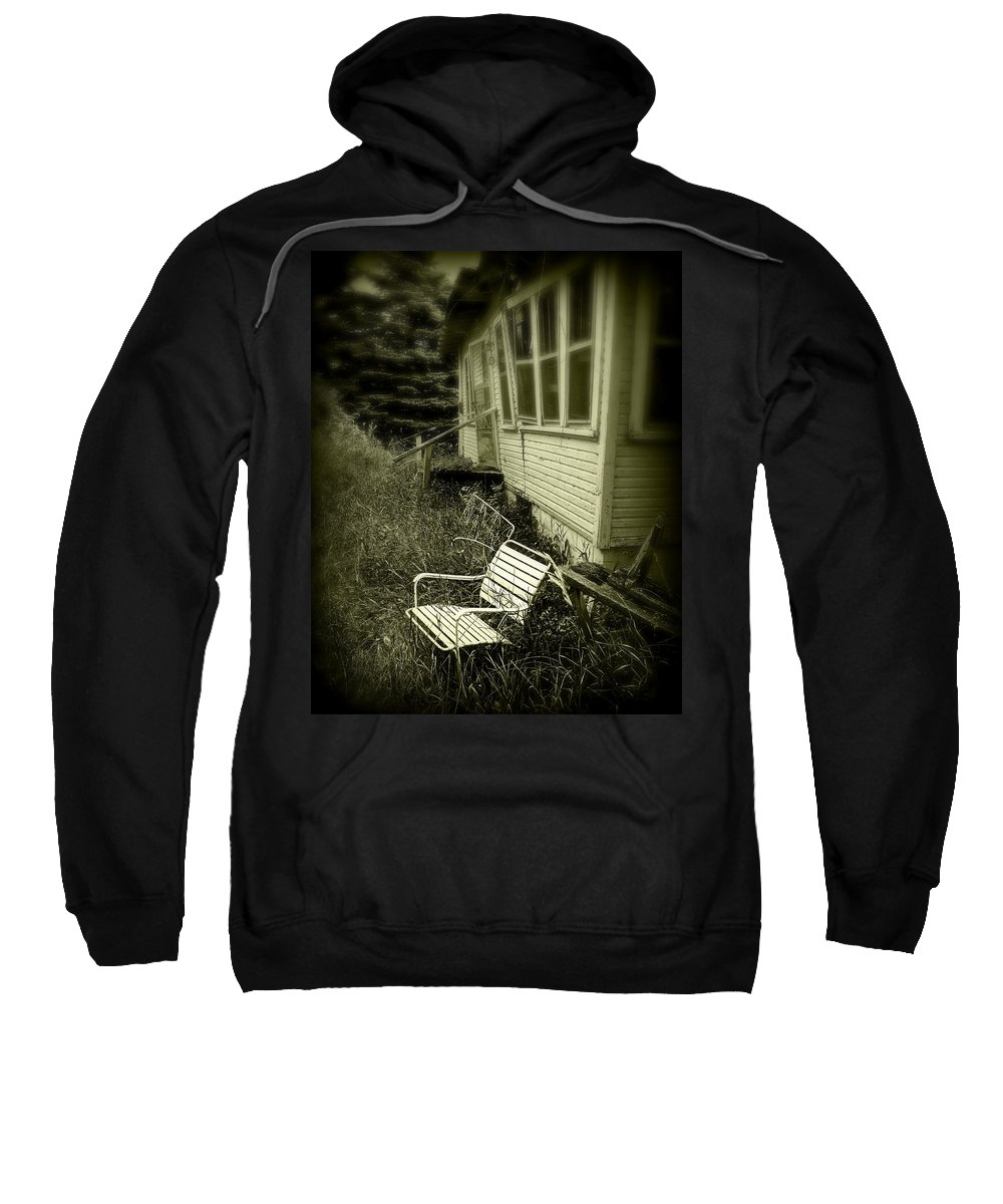 Chair Sweatshirt featuring the photograph Chair In Grass by Perry Webster