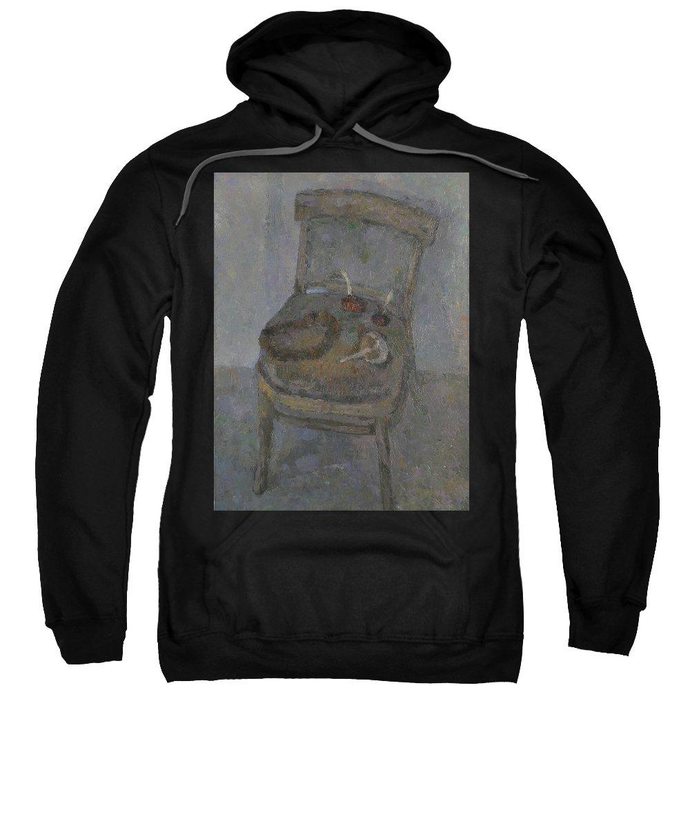 Still Life Sweatshirt featuring the painting Chair by Robert Nizamov