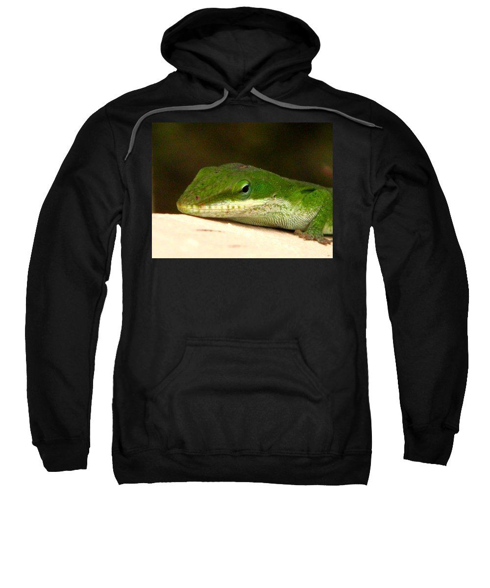 Chameleon Sweatshirt featuring the photograph Chameleon 2 by J M Farris Photography