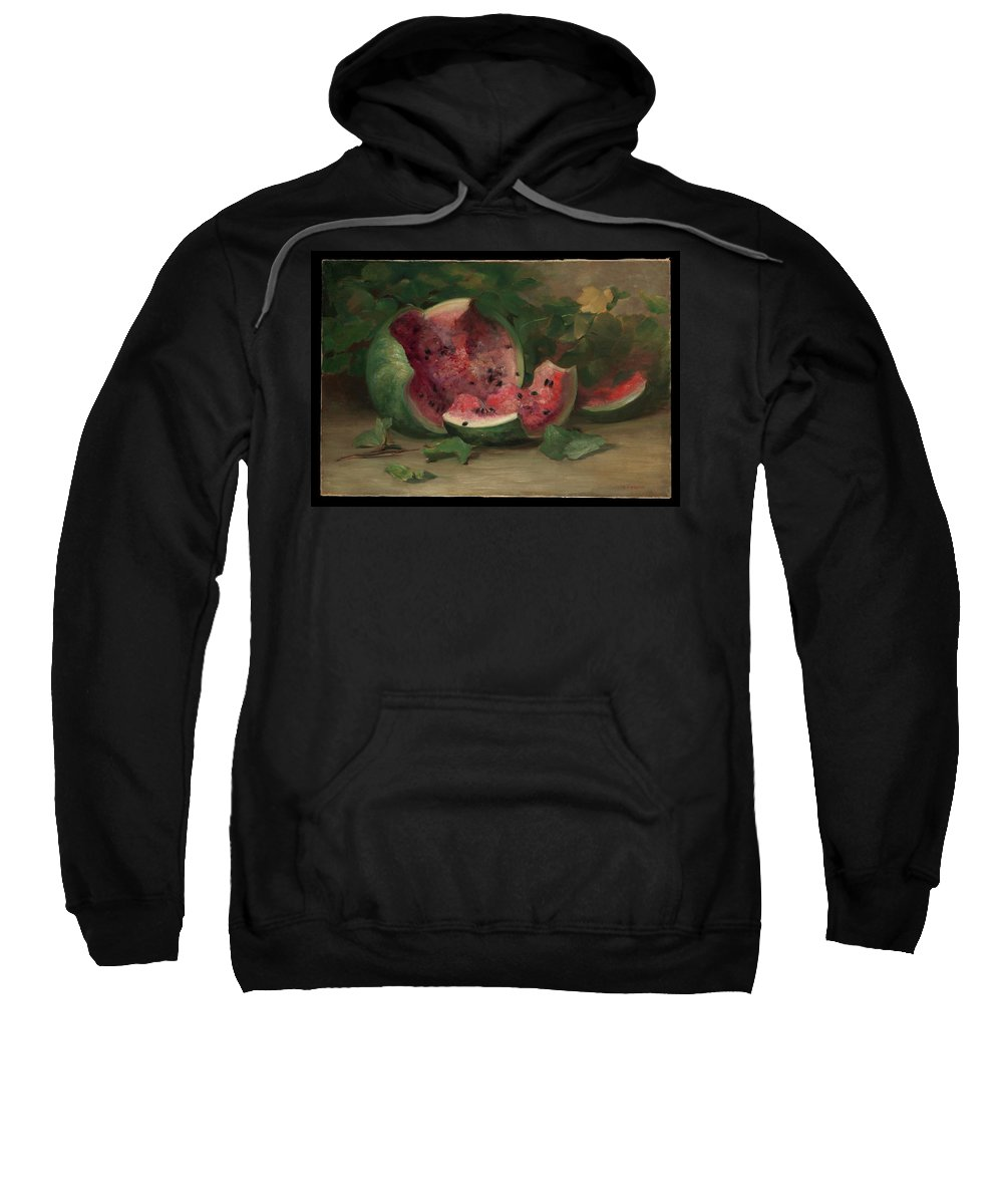 Untitled (cracked Watermelon) Sweatshirt featuring the painting Charles Ethan Porter by MotionAge Designs