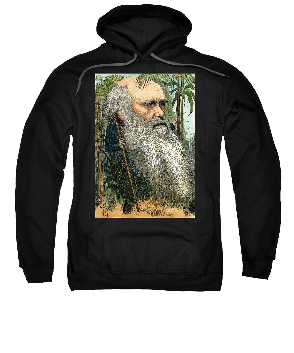 1872 Sweatshirt featuring the photograph Charles Robert Darwin by Granger
