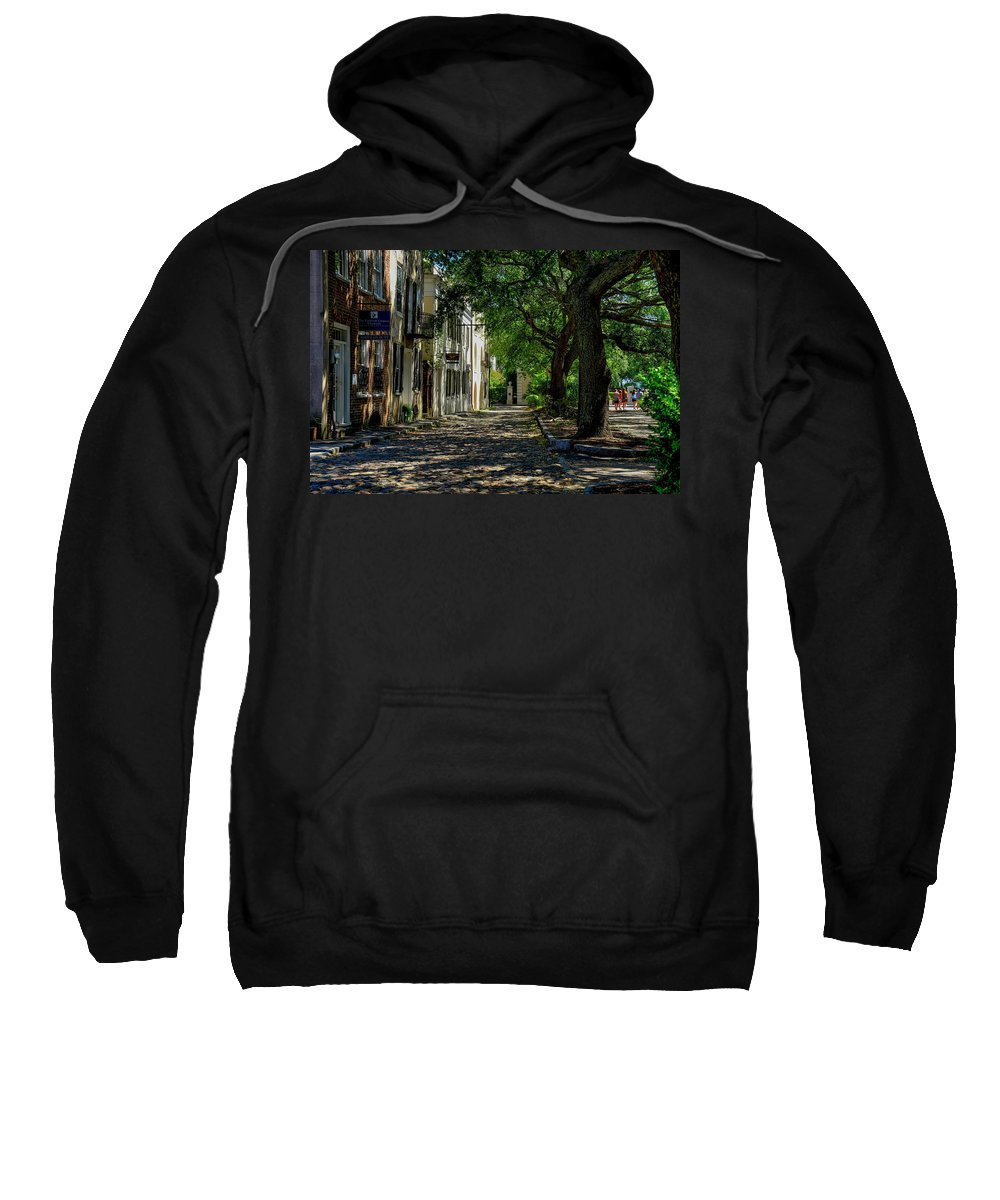 Side Sweatshirt featuring the photograph Charleston Side Street by TJ Baccari