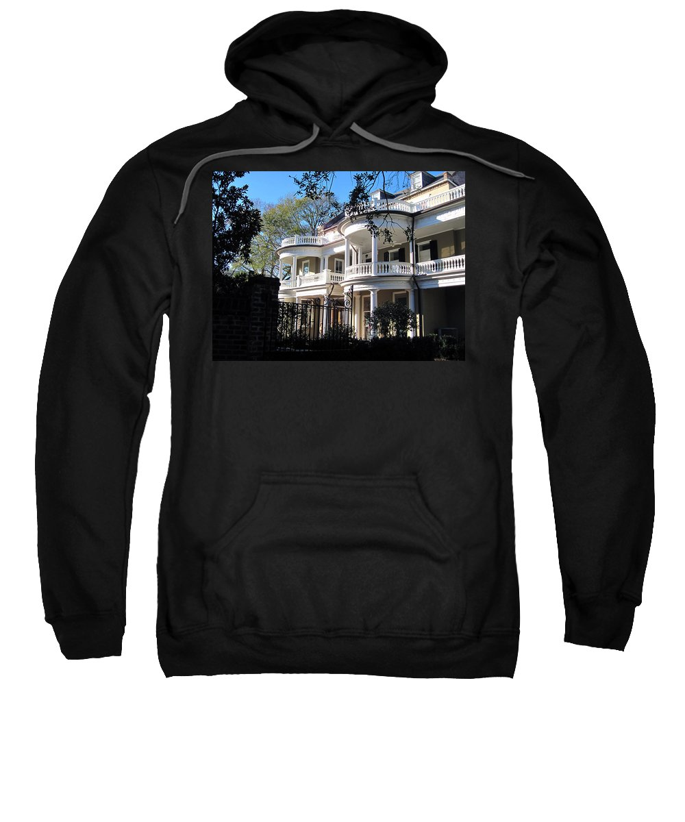Photography Sweatshirt featuring the photograph Charlestons Beautiful Architecure by Susanne Van Hulst