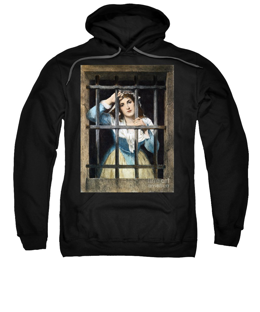 18th Century Sweatshirt featuring the photograph Charlotte Corday by Granger