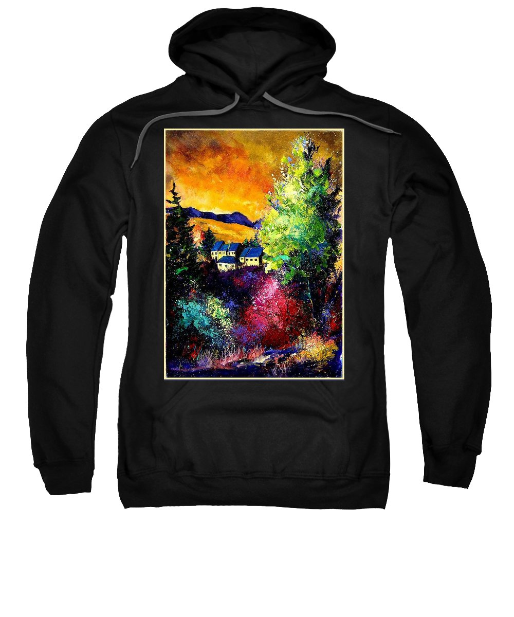 Landscape Sweatshirt featuring the painting Charnoy by Pol Ledent