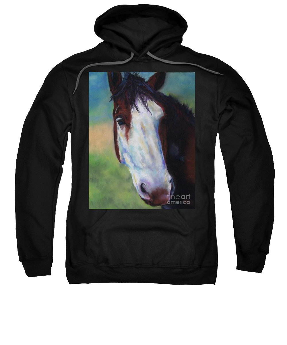 Horse Sweatshirt featuring the painting Charolette by Frances Marino