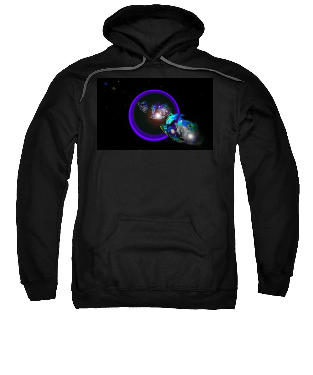 Star Treck Sweatshirt featuring the painting Chase Violet by Charles Stuart