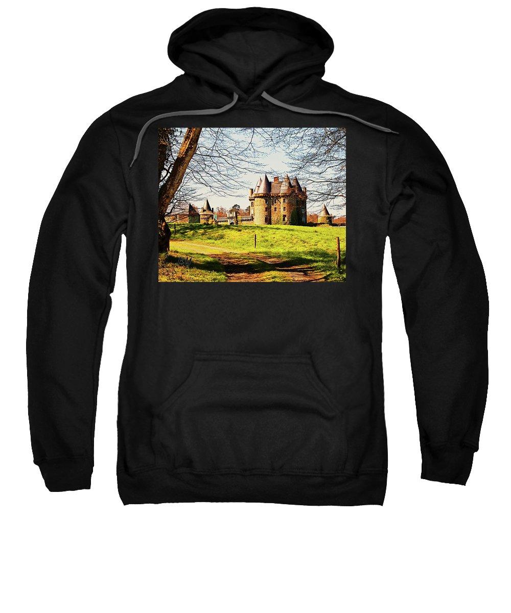 French Architecture Sweatshirt featuring the photograph Chateau De Landale by Elf Evans