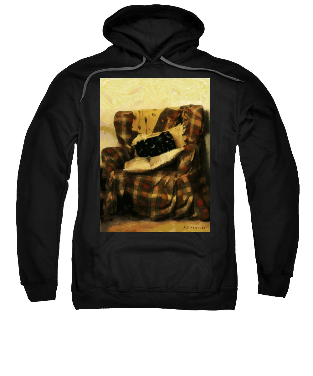 Armchair Sweatshirt featuring the painting Checks And Balances by RC DeWinter