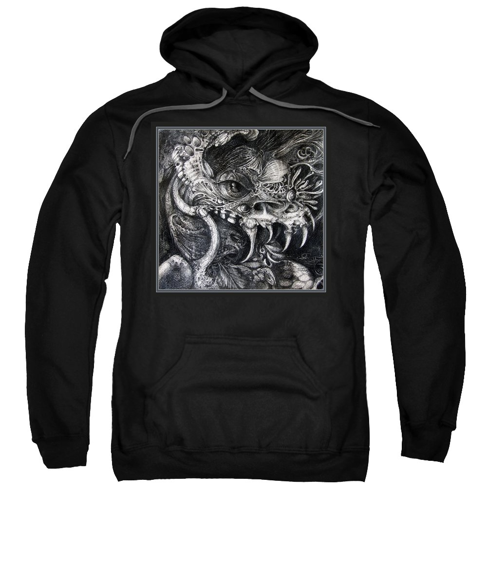 Sweatshirt featuring the drawing Cherubim Of Beasties by Otto Rapp