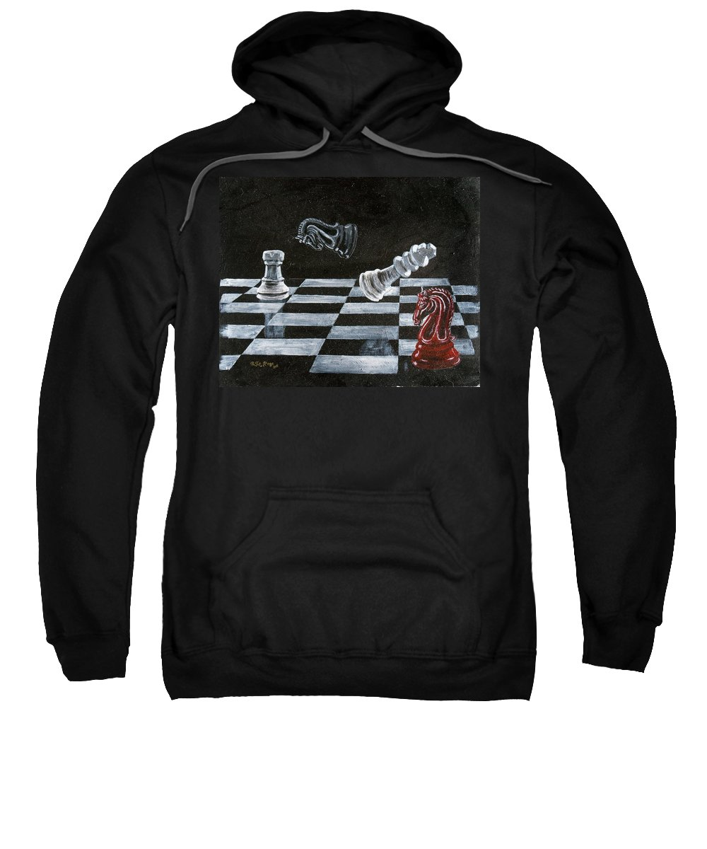 Chess Sweatshirt featuring the painting Chess by Richard Le Page