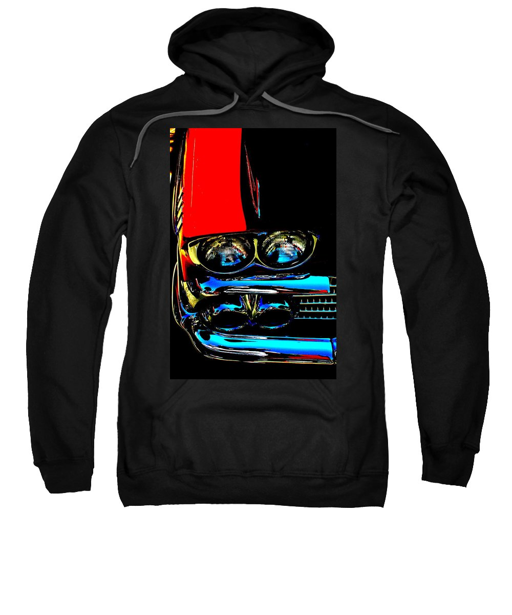 Photograph Sweatshirt featuring the photograph Chevy by Gwyn Newcombe