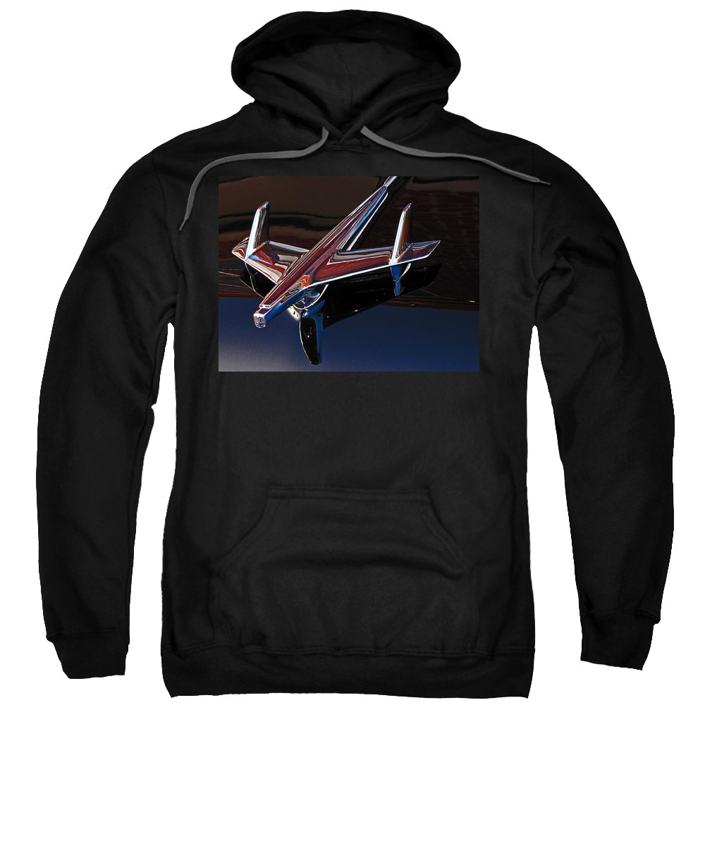 Chevrolet Sweatshirt featuring the photograph Chevy Hood Ornament by Gary Adkins
