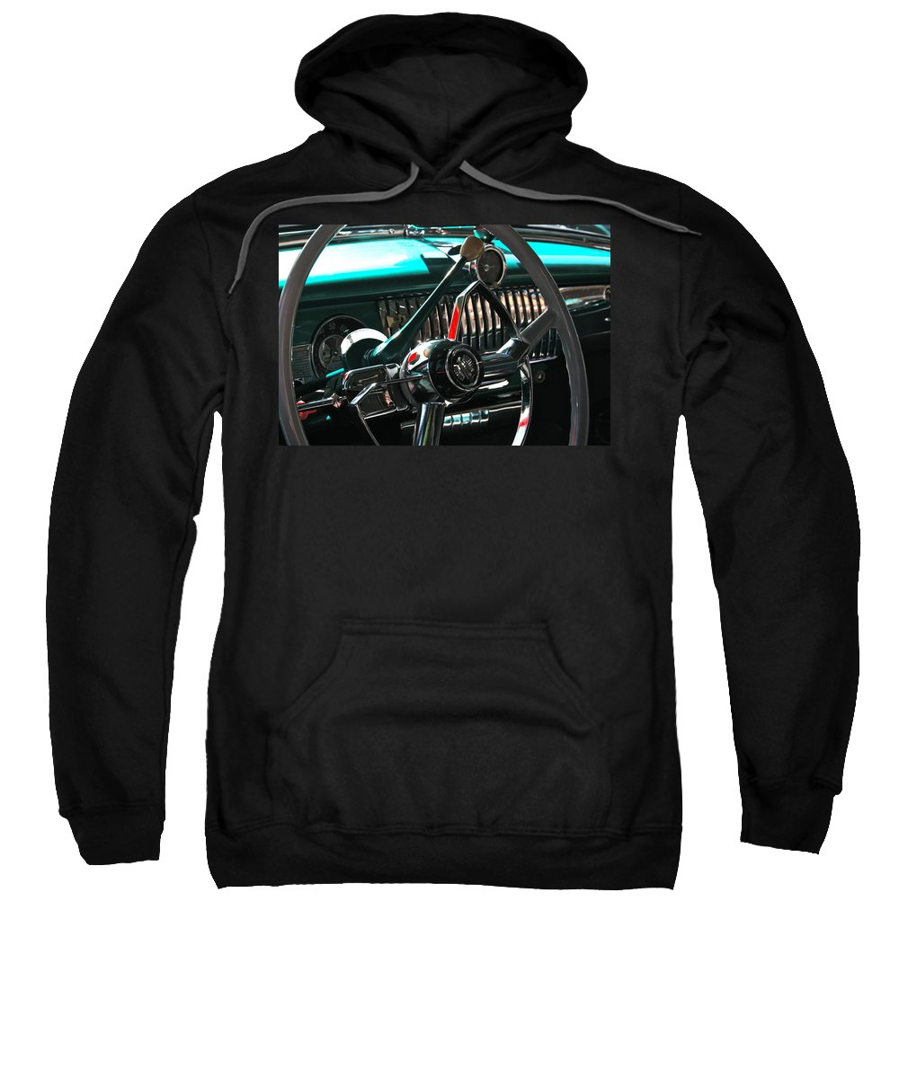 Photograph Sweatshirt featuring the photograph Chevy Powerglide by Gwyn Newcombe
