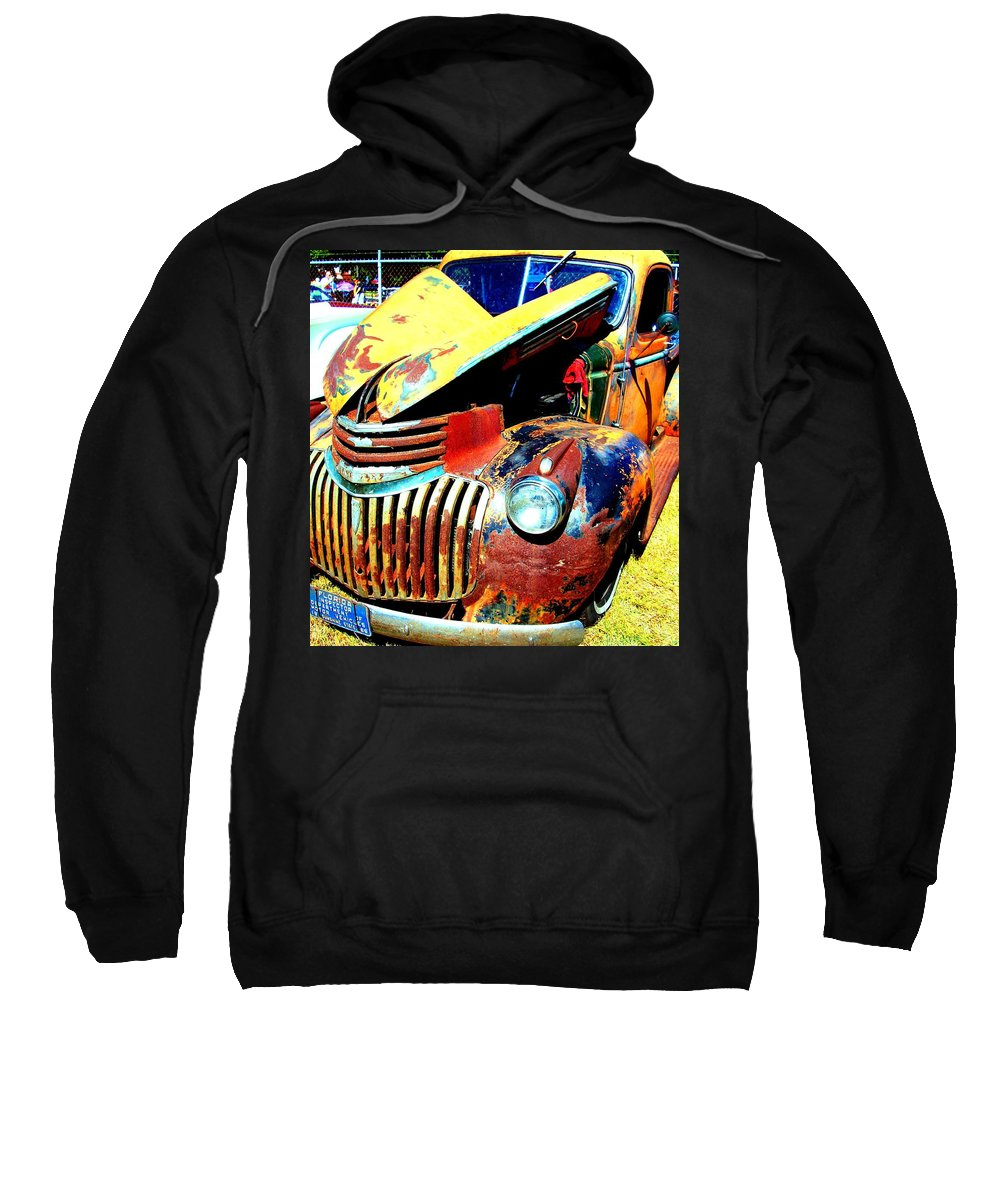 Akers Sweatshirt featuring the photograph Chevy Rat by Edmund Akers