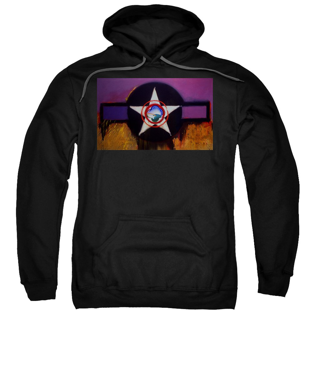 Air Force Insignia Sweatshirt featuring the painting Cheyenne Autumn by Charles Stuart