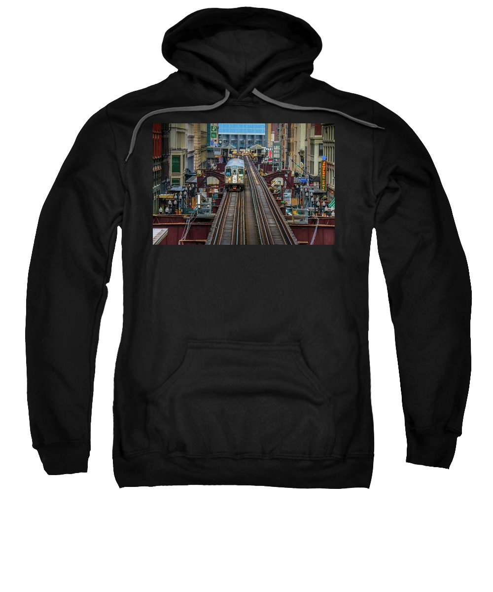 Chicago Sweatshirt featuring the photograph Chicago L by Tony HUTSON