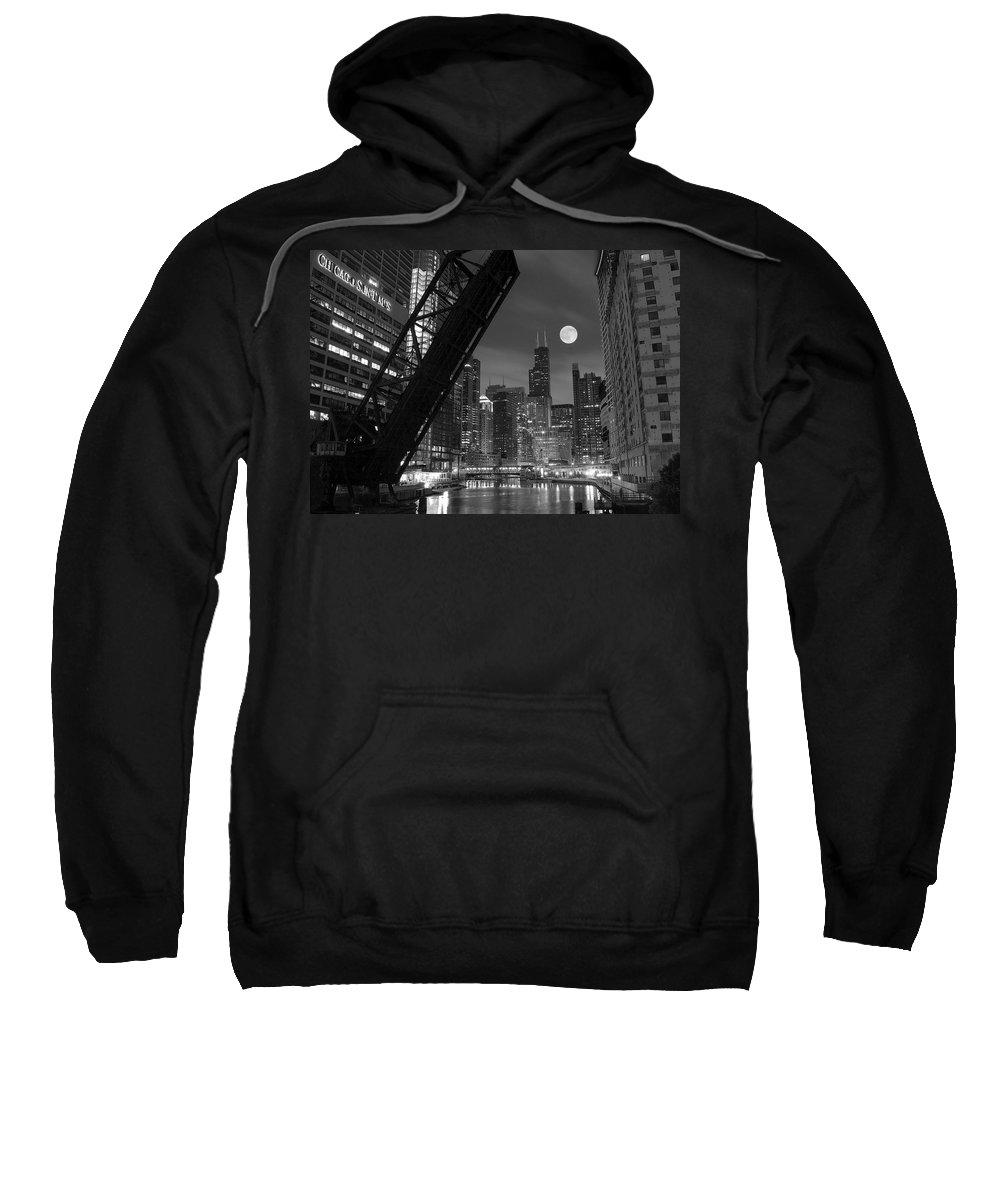 Chicago Skyline Photographs Hooded Sweatshirts T-Shirts