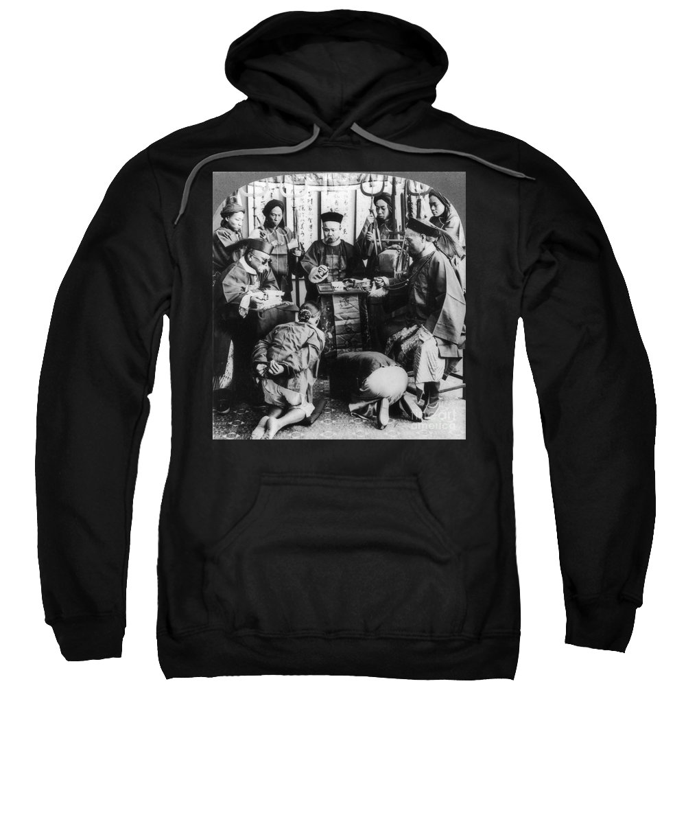 1900 Sweatshirt featuring the photograph China: Boxer Trial, C1900 by Granger