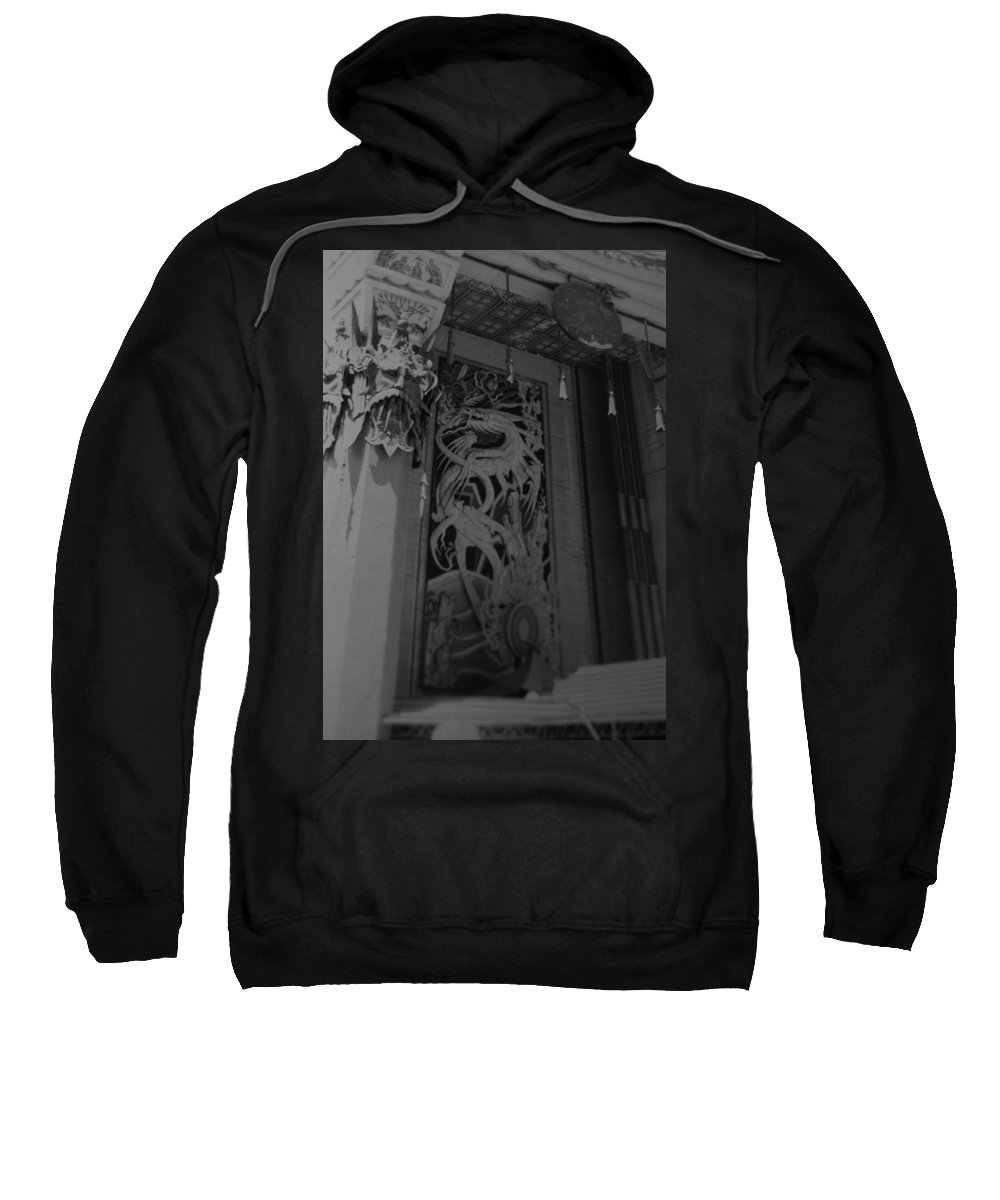 Black And White Sweatshirt featuring the photograph Chinese Theater by Rob Hans