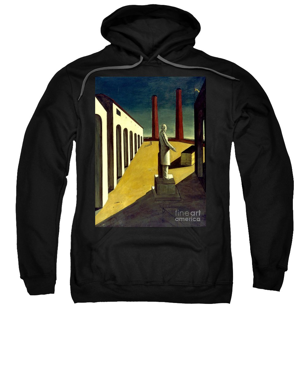 1914 Sweatshirt featuring the photograph Chirico: Enigma, 1914 by Granger