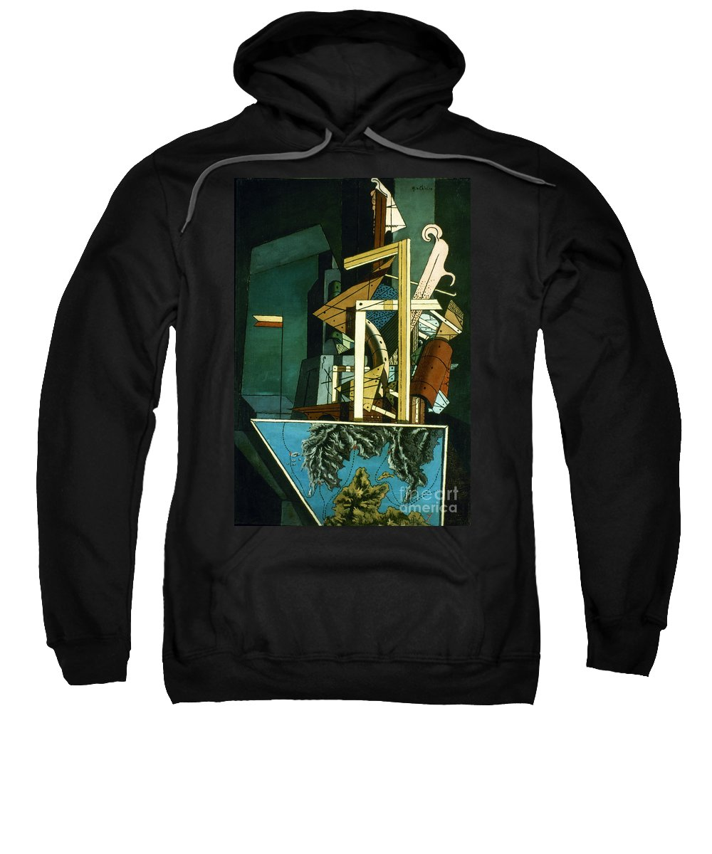 1916 Sweatshirt featuring the photograph Chirico: Melancolie by Granger