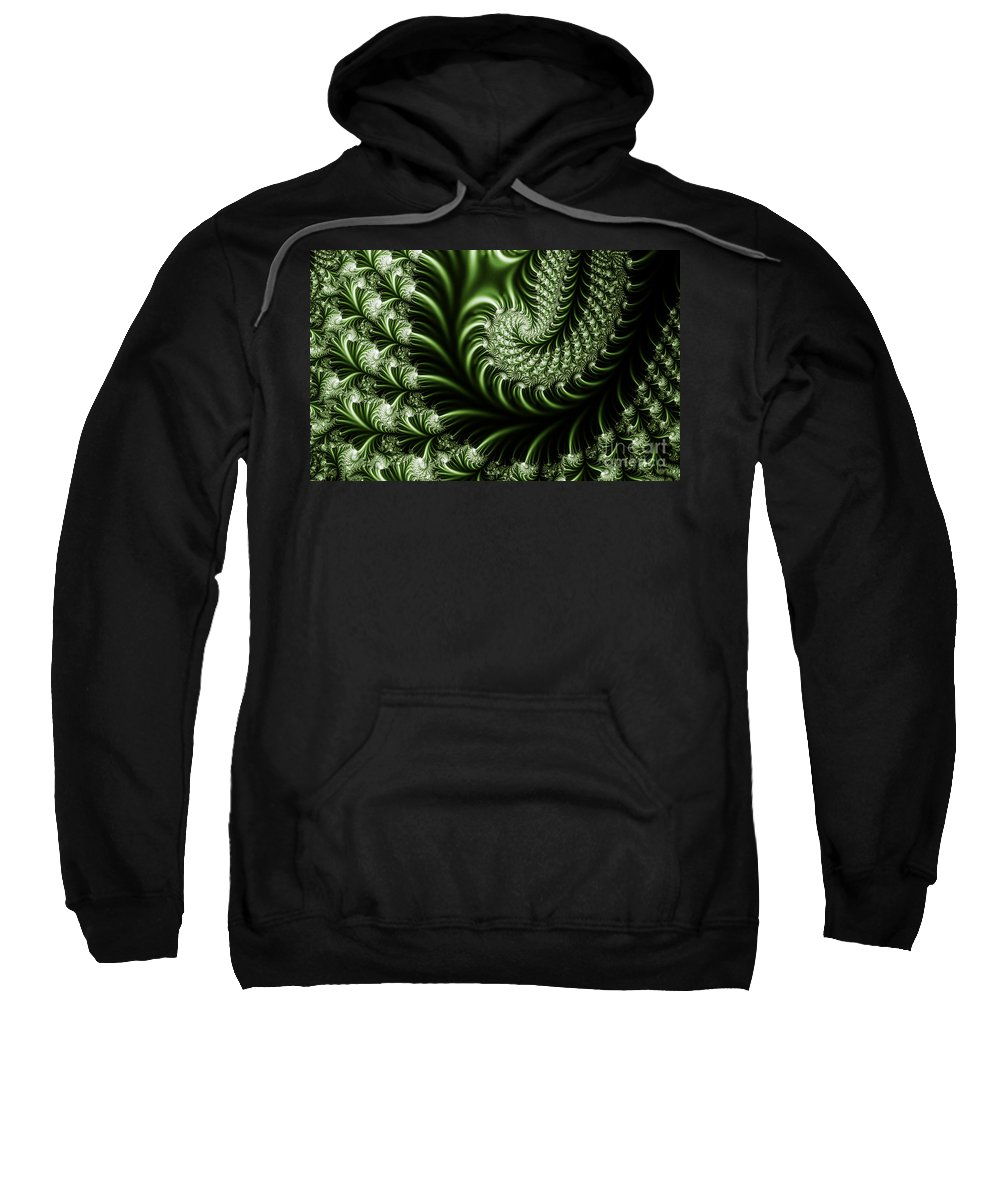 Clay Sweatshirt featuring the digital art Chlorophyll by Clayton Bruster