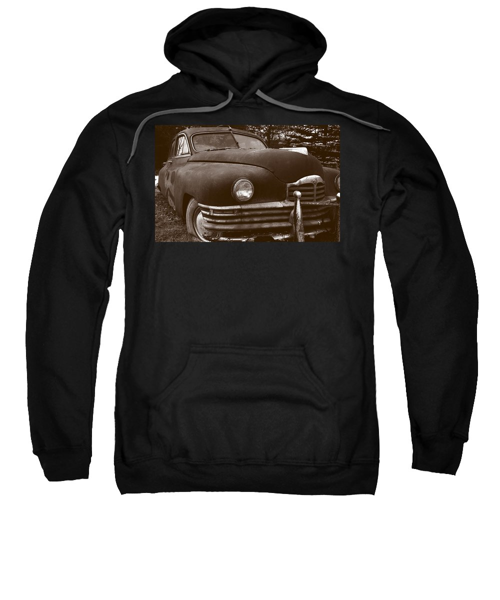 Old Car Sweatshirt featuring the photograph Chocolate Moose by Jean Macaluso