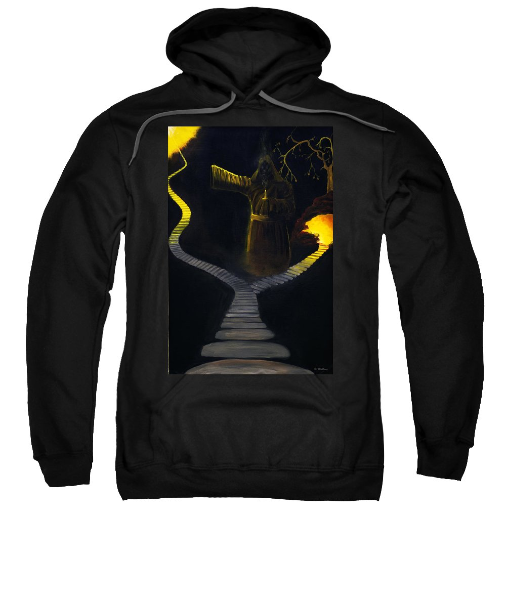2d Sweatshirt featuring the painting Chosen Path by Brian Wallace