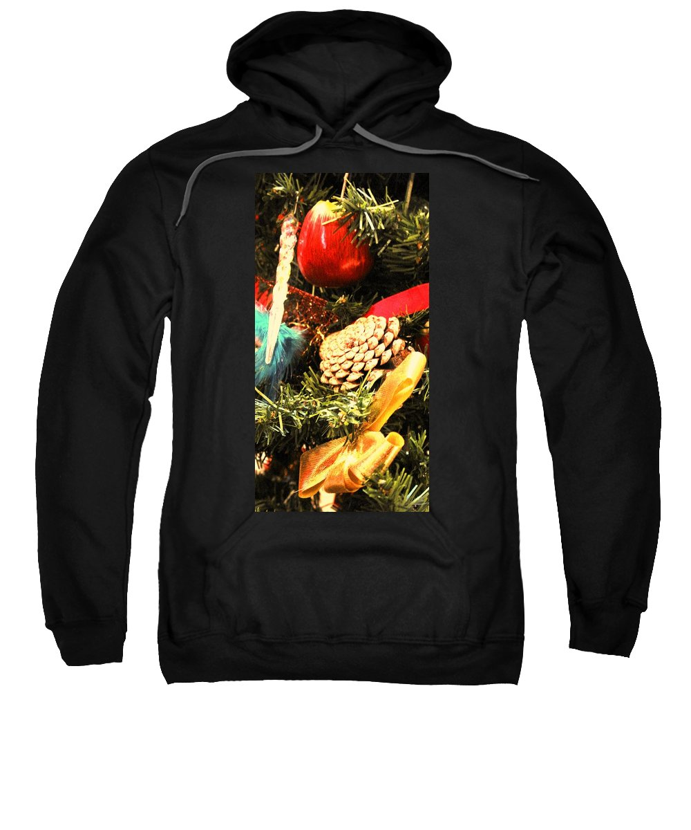 Christmas Sweatshirt featuring the photograph Christmas Decorations by Ian MacDonald