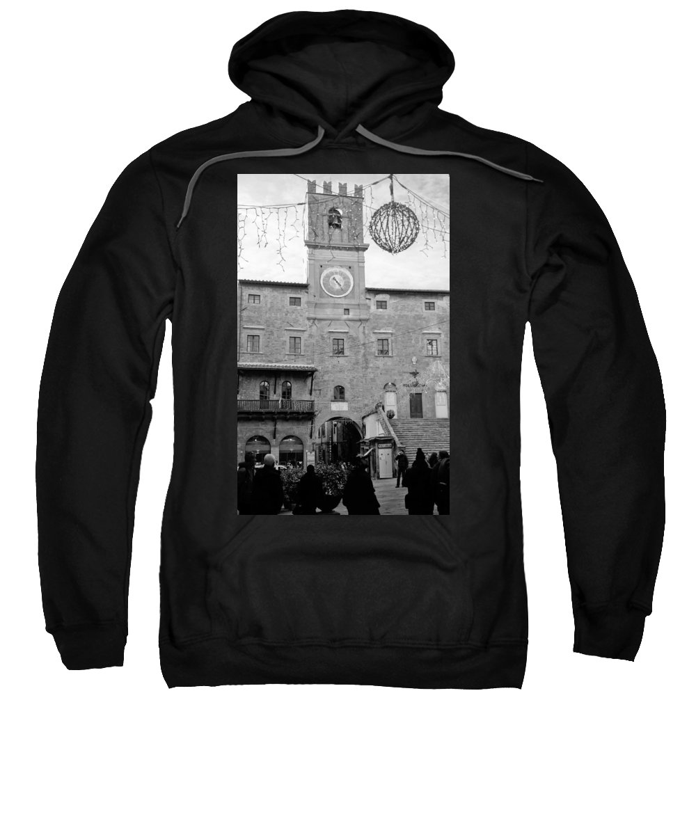 Cortona Sweatshirt featuring the photograph Christmas In Cortona by Andrea Rea