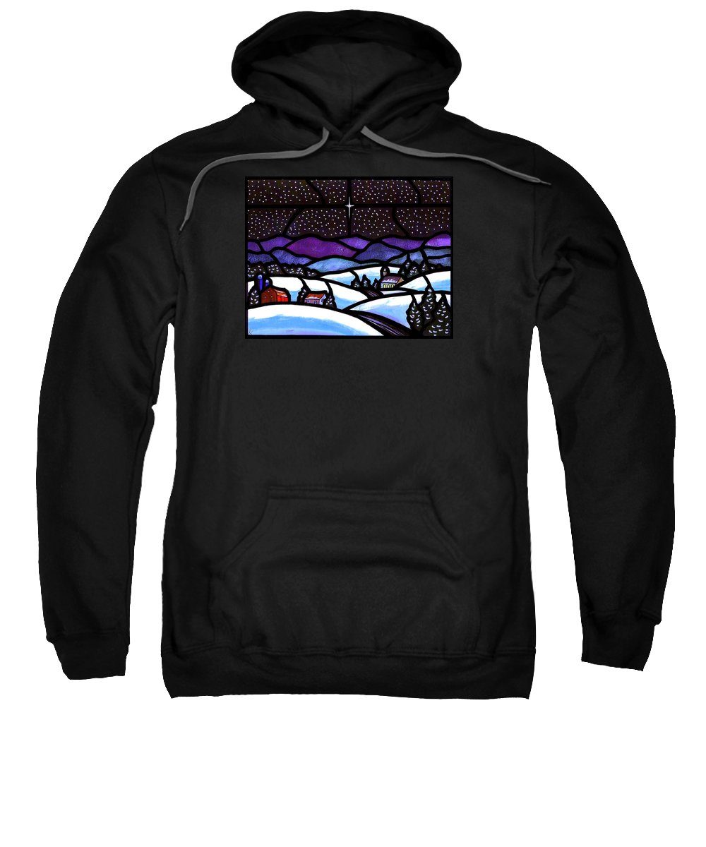 Snow Sweatshirt featuring the painting Christmas In The Shenandoah Valey by Jim Harris