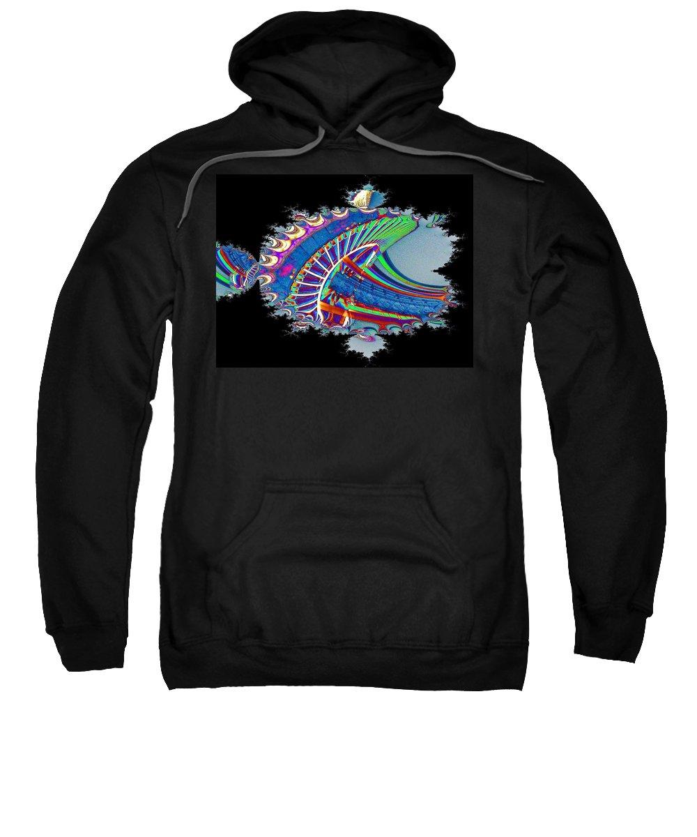 Seattle Sweatshirt featuring the digital art Christmas Needle In Fractal by Tim Allen