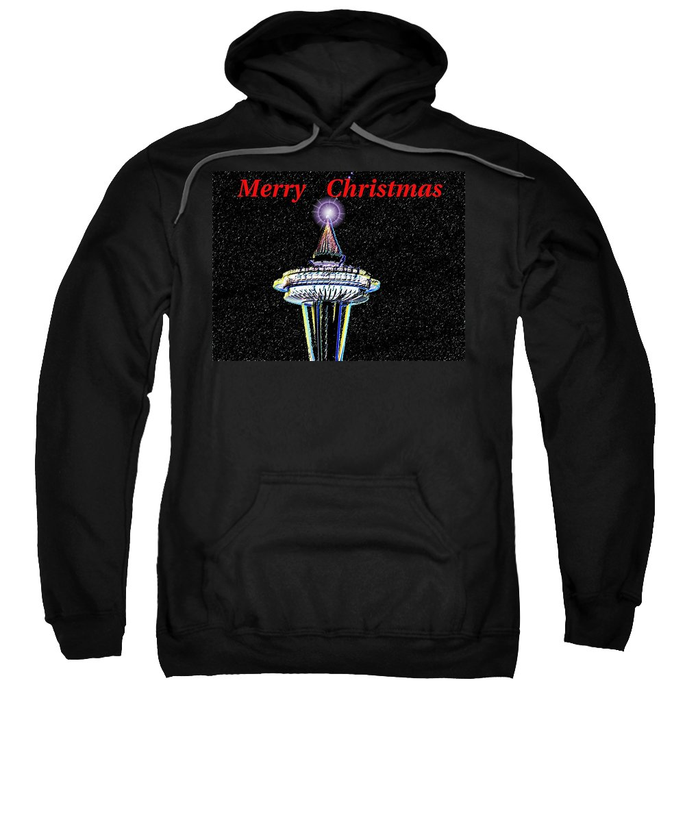 Seattle Sweatshirt featuring the photograph Christmas Needle by Tim Allen