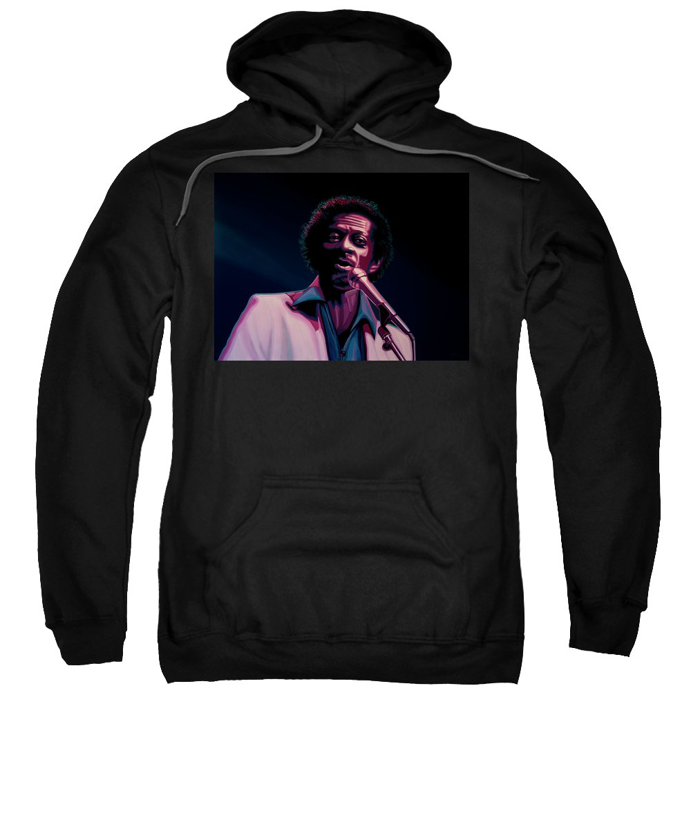Chuck Berry Sweatshirt featuring the painting Chuck Berry by Paul Meijering