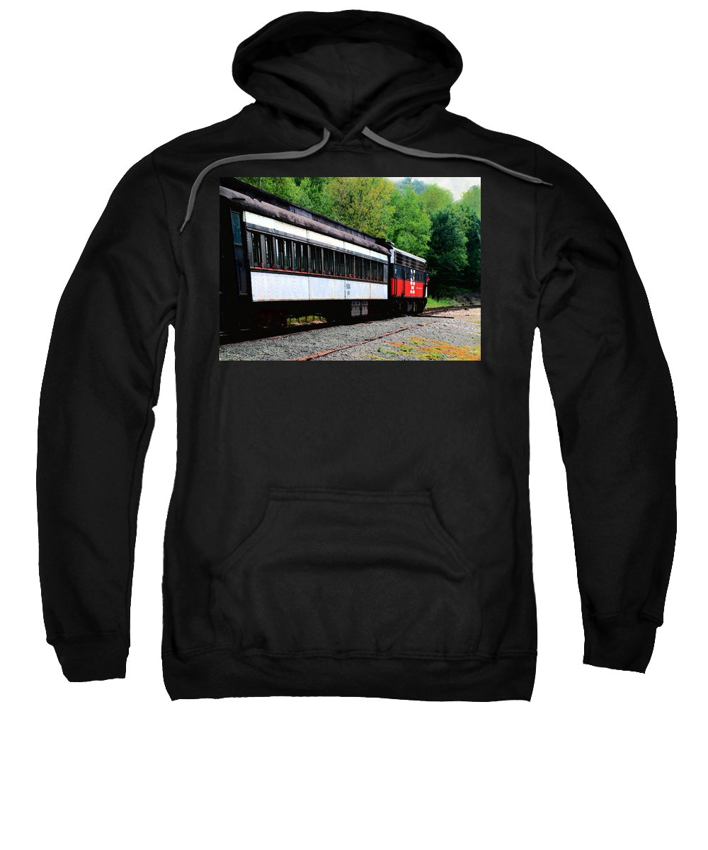 Train Sweatshirt featuring the photograph Chugging Along by RC DeWinter