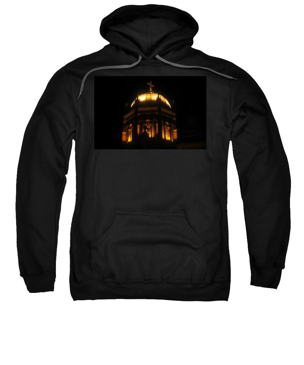 Flagler Memorial Sweatshirt featuring the photograph Church Lights by David Lee Thompson