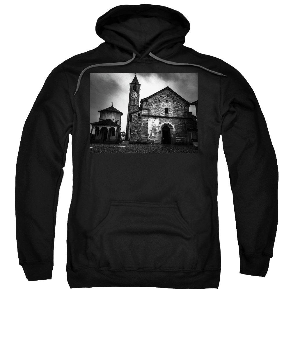 Baveno Sweatshirt featuring the photograph Church Of Santi Gervasio And Protasio by Mickey Stellavato