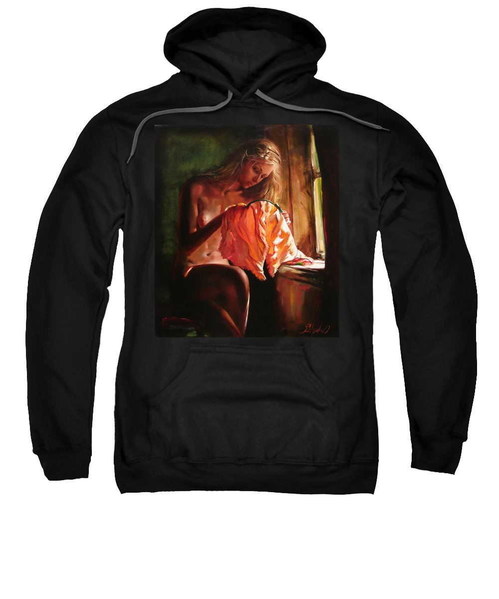 Ignatenko Sweatshirt featuring the painting Cinderella by Sergey Ignatenko