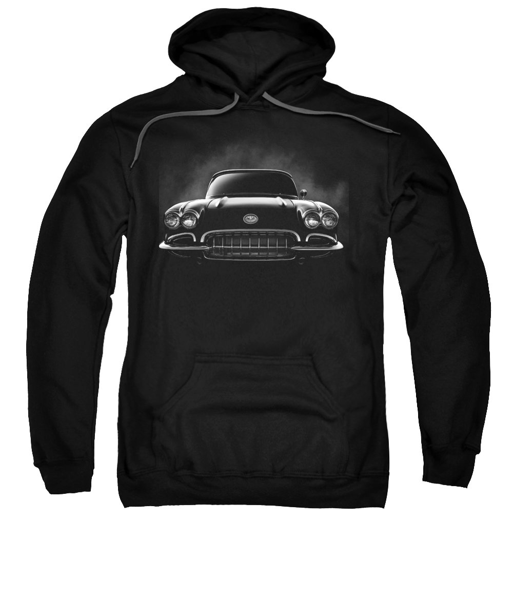Black Sweatshirt featuring the digital art Circa '59 by Douglas Pittman
