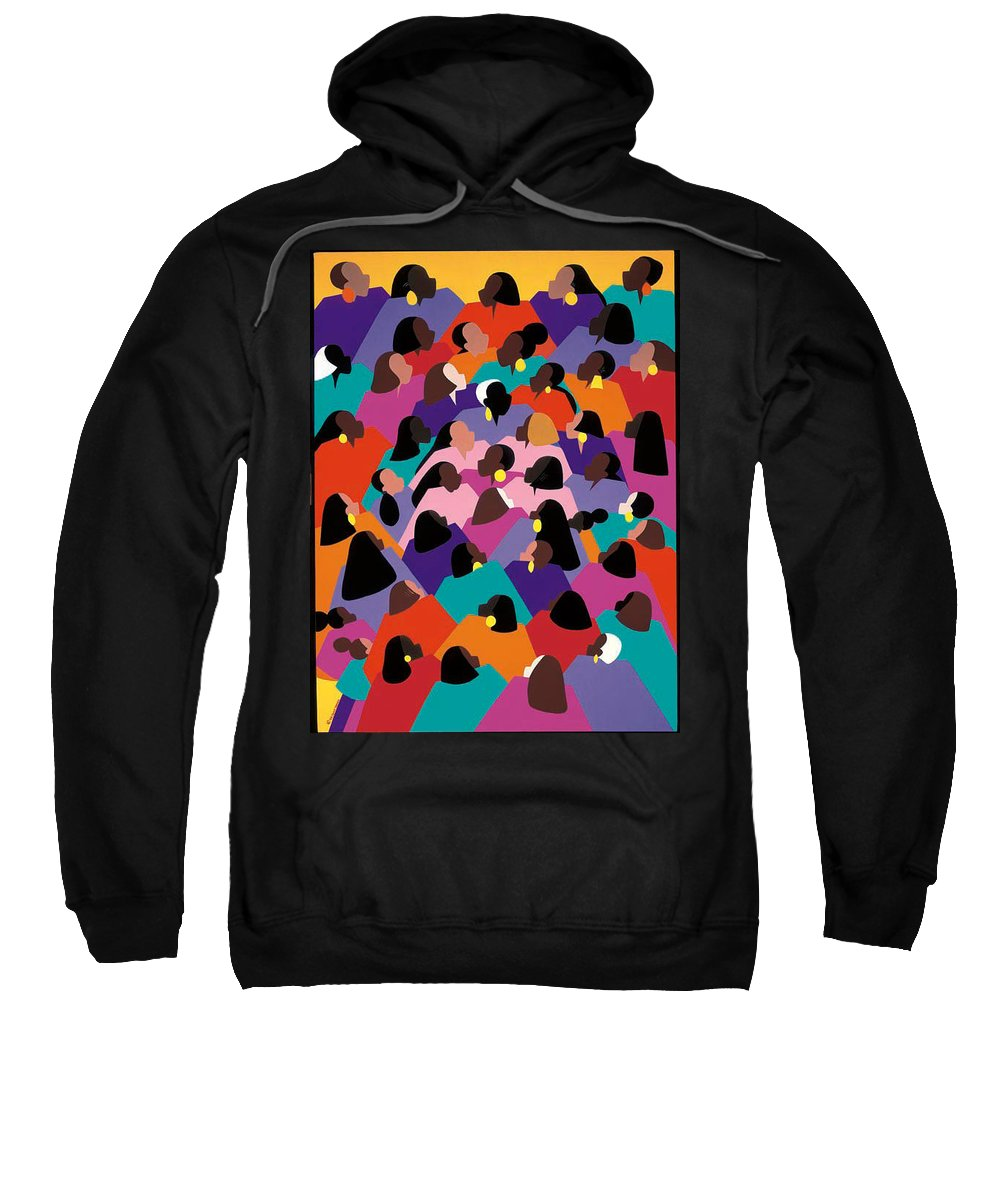 Figurative Sweatshirt featuring the painting Circle Of Promise by Synthia SAINT JAMES